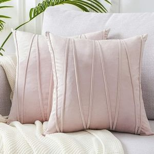 2 18x18 Blush Pink throw pillow covers